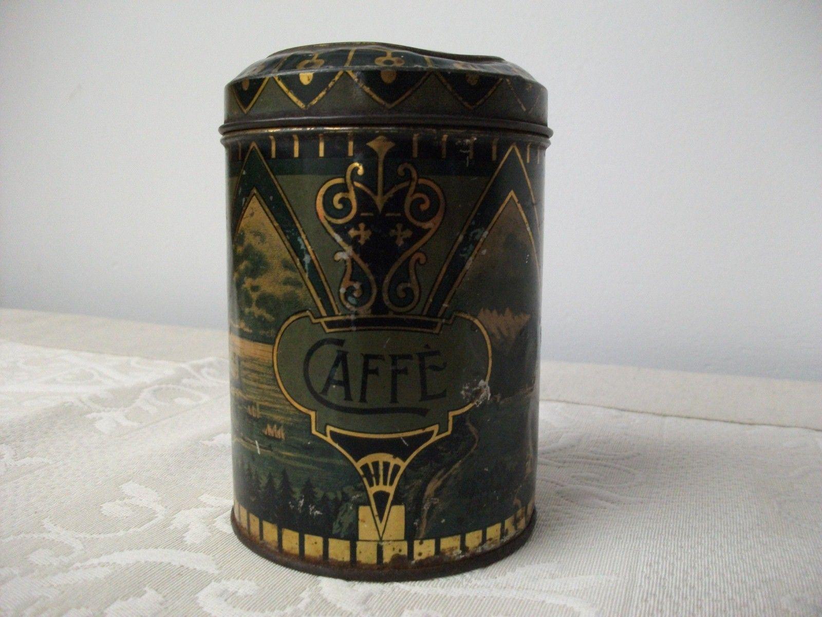 """Old italian tin coffee """"Liberty"""""""