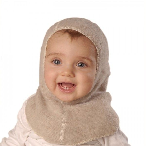 19b43e00049 Baby Balaclava Nelson Hat pulls easily over your baby s head while fitting  snugly to protect ears and neck from wind and cold. Available in Natural  White