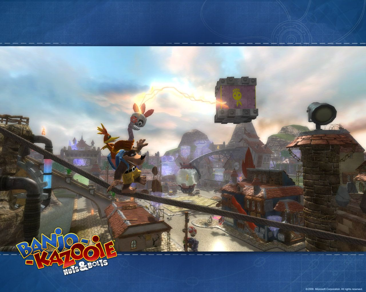 A Screenshot From The Xbox 360 Game Banjo Kazooie Nuts Bolts