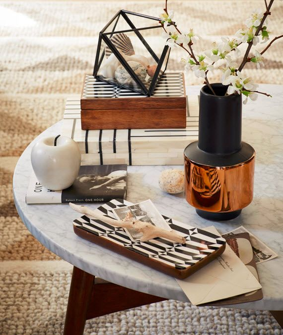Coffee Table Styling // West Elm