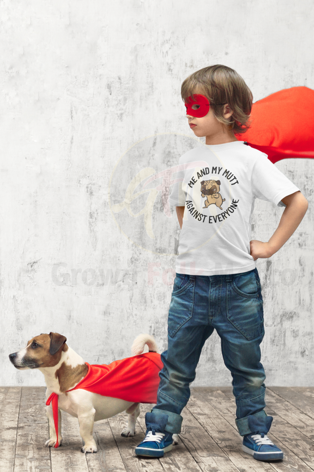 A child and his dog is a special friendship that can not be broken. Let your little one show off his admiration for his 4 legged best friend. #mutt #nationalmuttday #mansbestfriend
