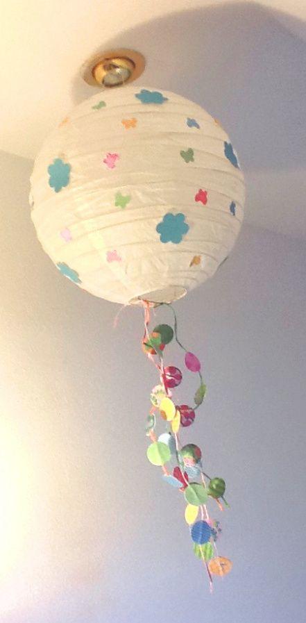 Mi balcón provenzal: Lámpara de papel personalizada