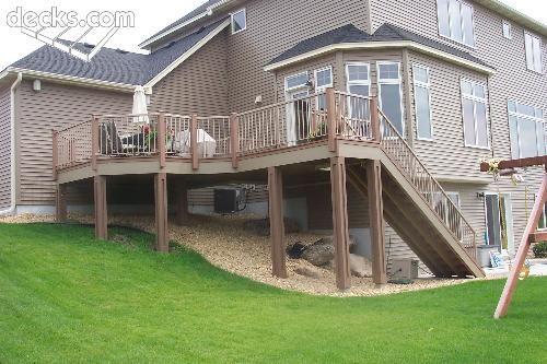 Side Deck Under Deck Landscaping Under Decks Deck Landscaping