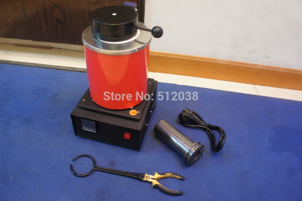 255.00$  Watch now - http://ali7w8.worldwells.pw/go.php?t=1859877757 - digital electric melting furnace 70 oz (2 kg) 1100 c  , melting gold silver scrap jewelry & METALS REFINERS 255.00$