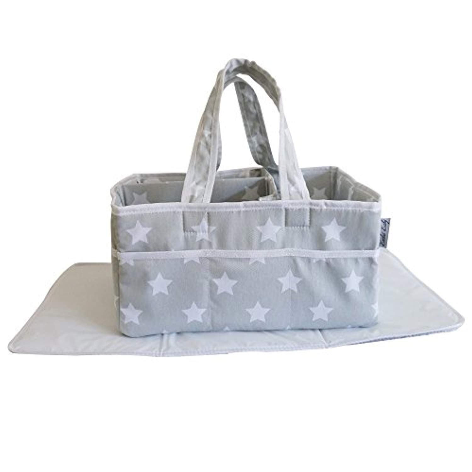 Baby Diaper caddy organizer with matching changing pad Registry Gifts