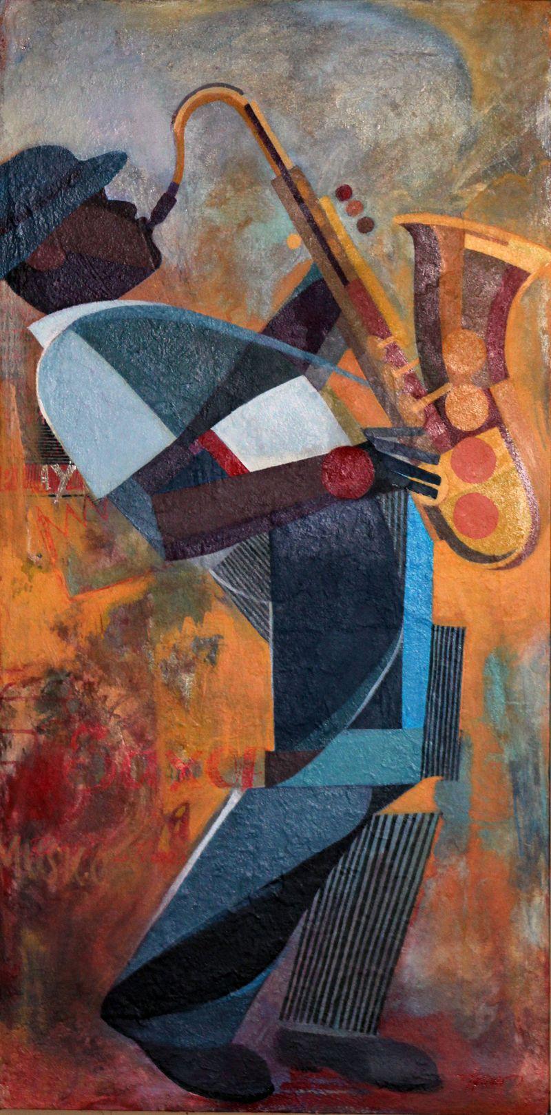 Art Deco Saxophone Amando Aquino Really Cool Piece