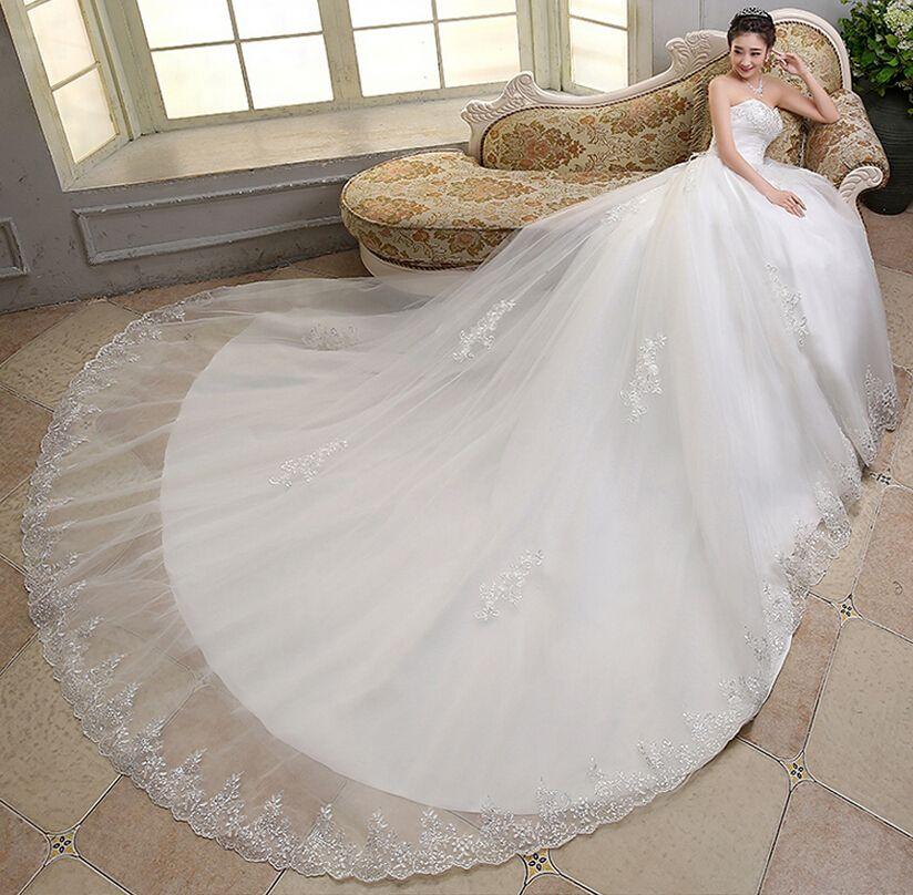 vestidos de novia estilo princesa con cola larga - buscar con google