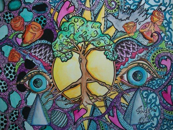 beautiful and trippy art with peace vibes! HOLY SHIP