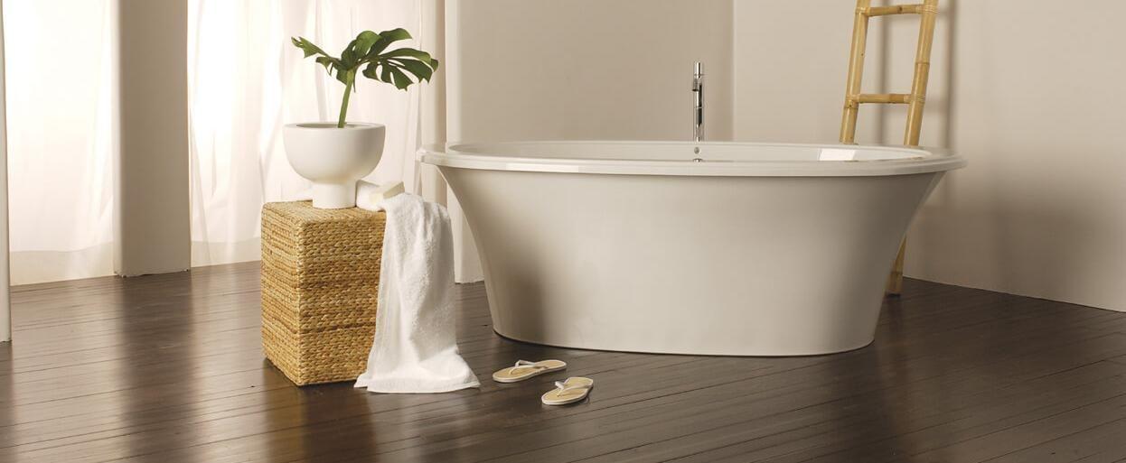 Freestanding air jet tub for your bathroom | BainUltra Sanos 6636 ...