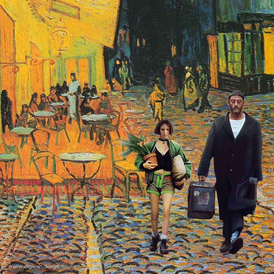 Leon With Van Gogh Classic Art Art Parody Classical Art Memes