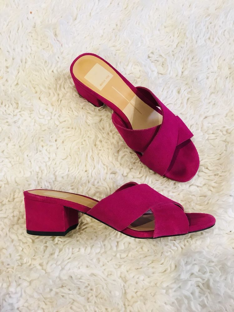 4c88f2cc748d Dolce vita Size 6.5 Fuscia Pink Block Heel Slide Retails New For  65.00   fashion  clothing  shoes  accessories  womensshoes  sandals (ebay link)