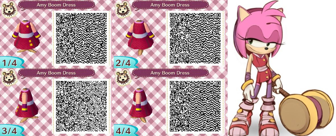 Animal Crossing Sonic Boom Amy S Dress By Flyer3f D7be9yl Jpg 1 181 480 Pixels Sonic Boom Amy Animal Crossing Animal Crossing Qr