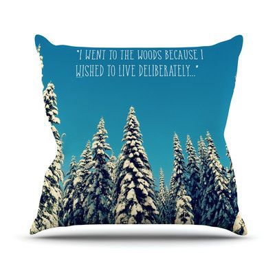 "KESS InHouse I Went to the Woods Throw Pillow Size: 16"" H x 16"" W"