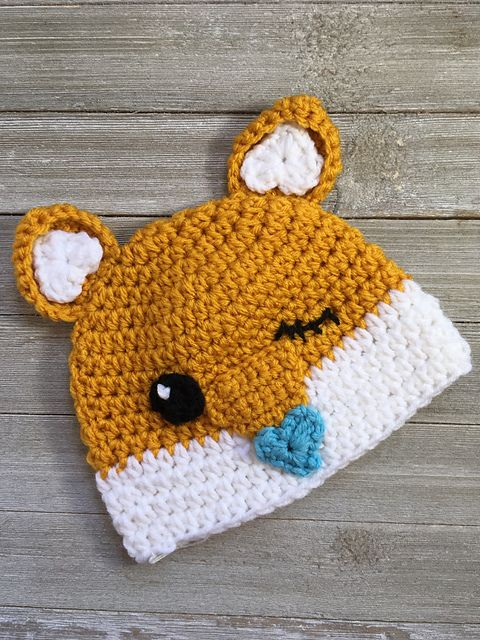 Ravelry: Cutesy Fox Hat pattern by Casey Carroll | Crochet: hats ...