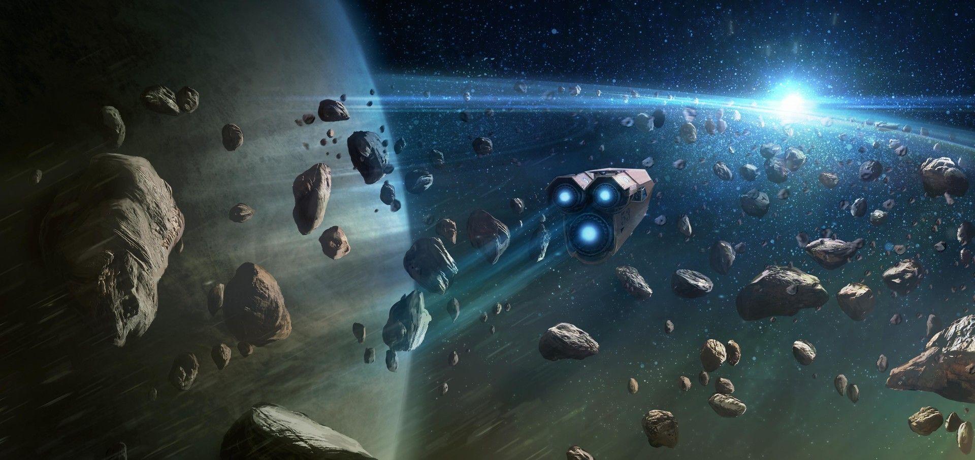 Artstation Mining The Asteroid Field Adam Frank Alien Spaceship Science Fiction Fantasy Adam Frank