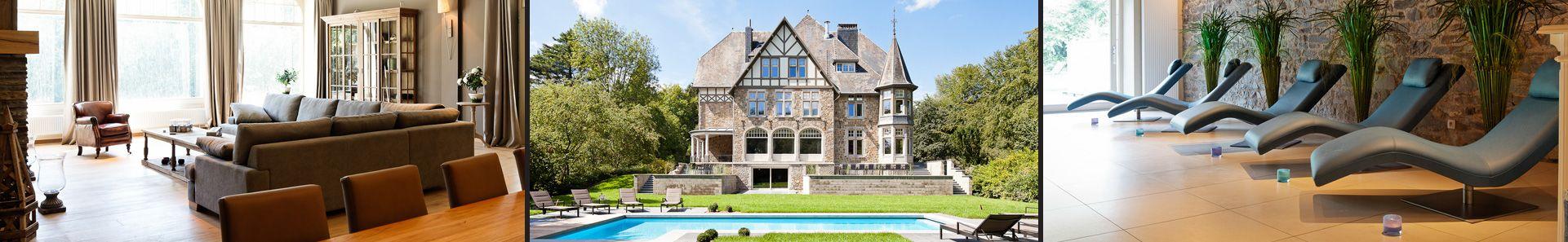 Val de Targnon | Château et Chalets  Voor 30 man, €96 per pers. voor een lang weekend!