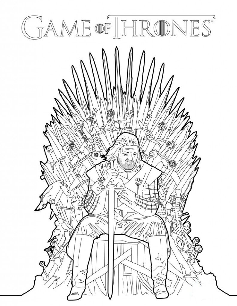 Game Of Thrones Coloring Book Announced