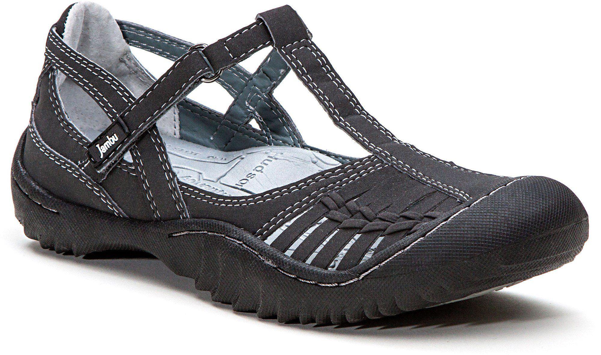 3947f6cf85f39 Amazon.com: New Jambu Cliff Charcoal T-strap Shoes Ladies 6: Shoes ...
