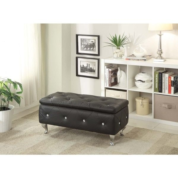 Upholstered Tufted Storage Bench | Tufted storage bench ...