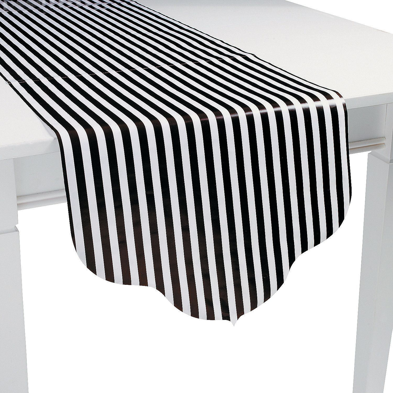 Black U0026 White Striped/ Polka Dot Reversible Table Runner  Might Be Cute To  Alternate