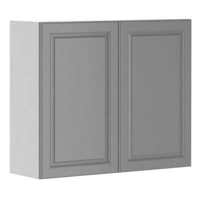 36x30x12.5 in. Buckingham Wall Cabinet in White Melamine and Door ...