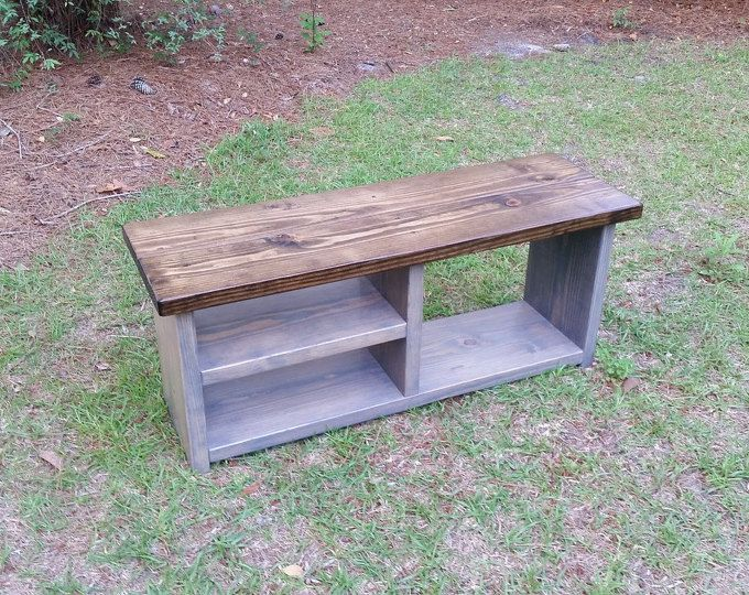 Rustic Mudroom Storage Bench, Entryway Bench, Boot Bench, Shoe Bench ...