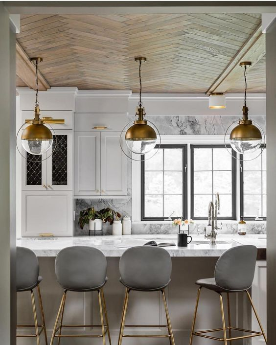 35 Chic And Bold Brass Home Décor Ideas: DIY Black Painted Window Frames