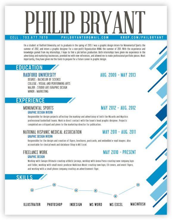 Graphic Design Resume Art Pinterest Resume Design Graphic