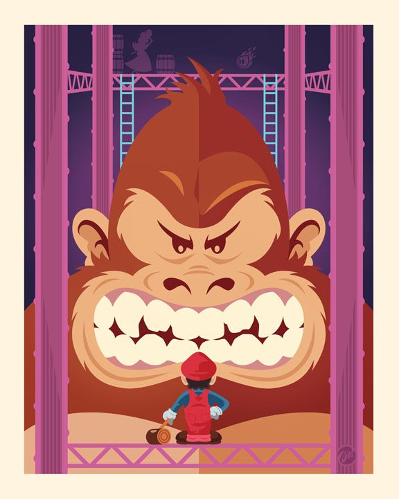 Assorted Goodness Donkey Kong Nintendo Art Game Art