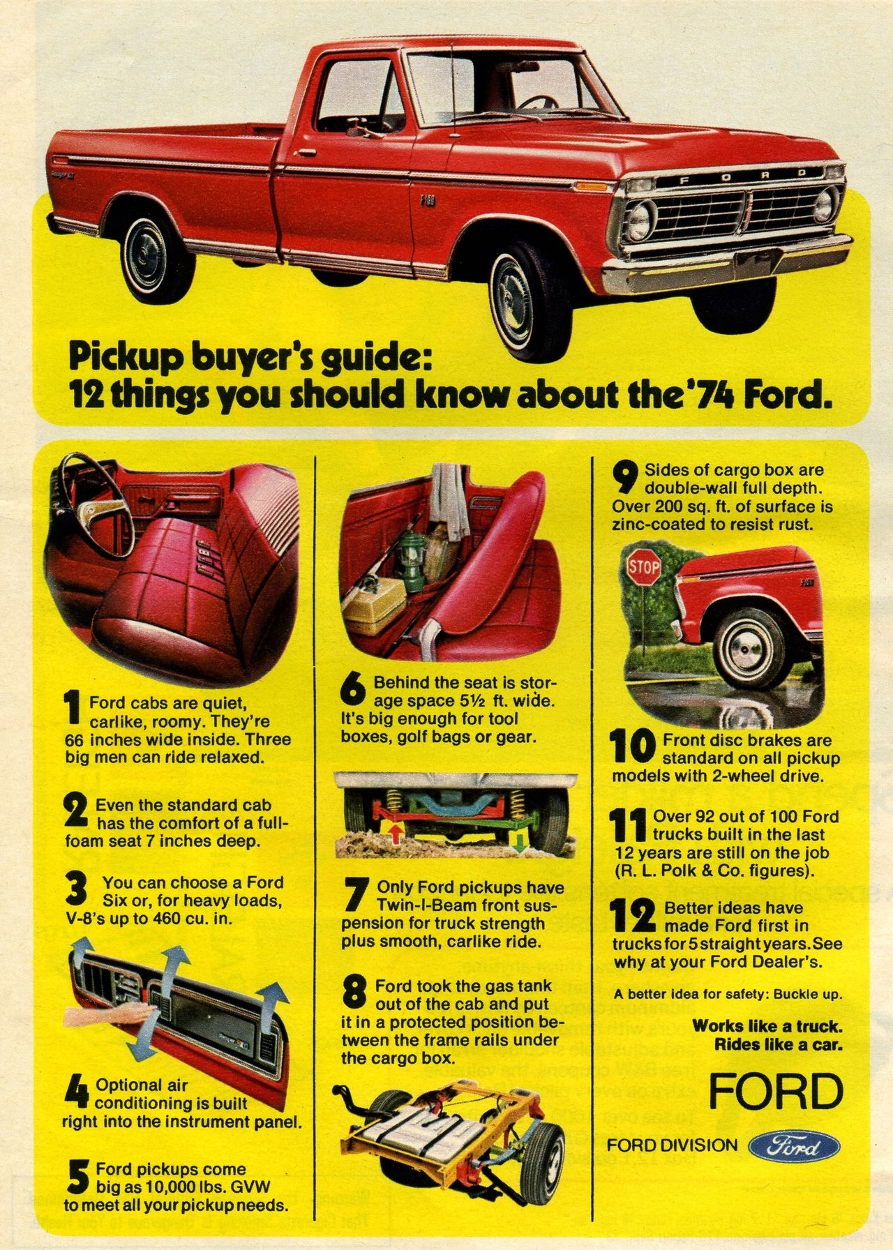 1974 Ford F100 Pickup Advertisement Photo Picture With Images