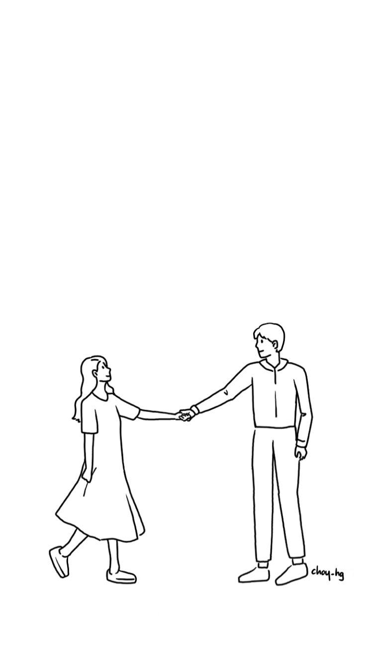Iphone Background Couple Illustration Illust