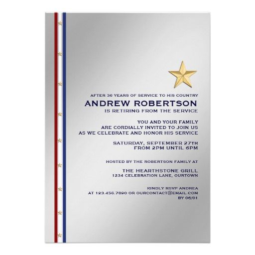 9987104341b43f76e6af076d7bcc41f7 military retirement party wording for invitations dads,Military Invitation Template
