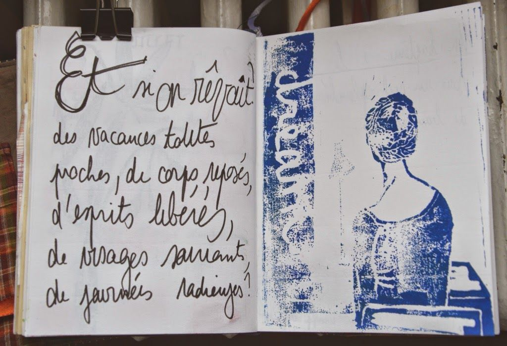 Art journal 2014 juillet Sketchbook journaling, Sketch