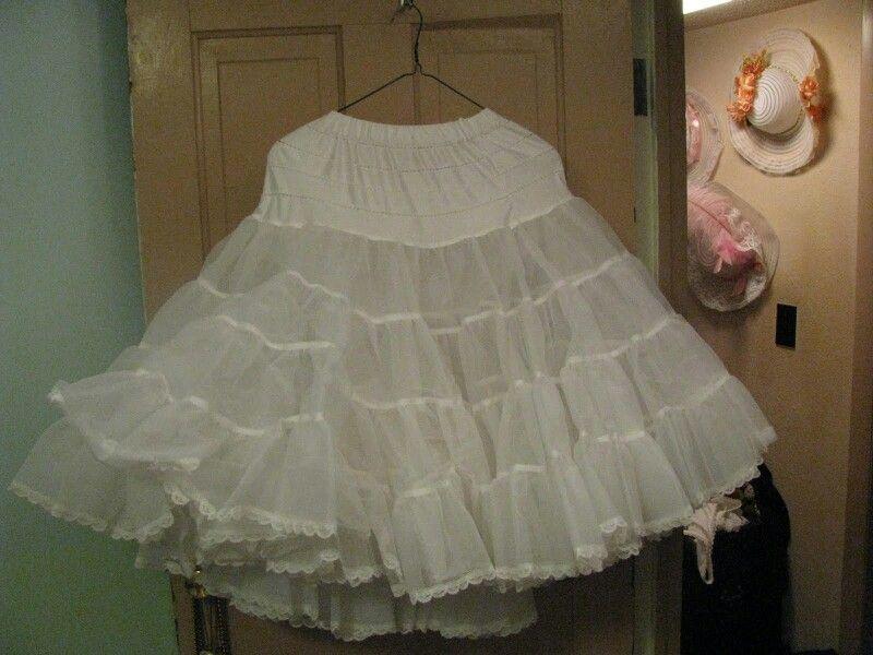 White petticoat hanging