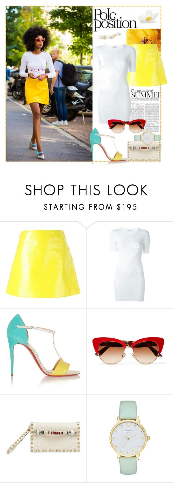 """""""Streetwise..."""" by sue-mes ❤ liked on Polyvore featuring Courrèges, Christian Louboutin, Dolce&Gabbana, Valentino, Kate Spade and Paige Novick"""