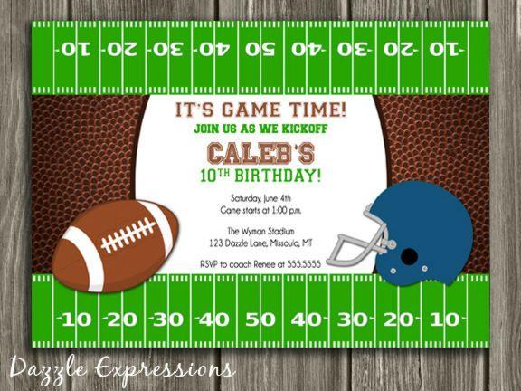 Printable Football Birthday Invitation | Boy Sports Birthday Party ...