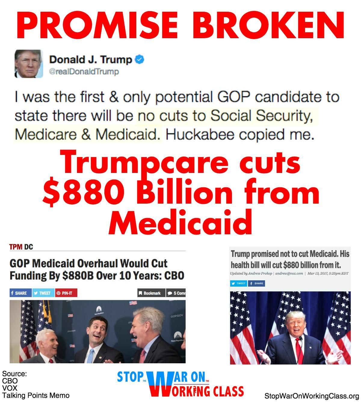 Trump Budget Guts Medicaid Disability >> Trump Promised Not To Cut Social Security Medicare And Medicaid