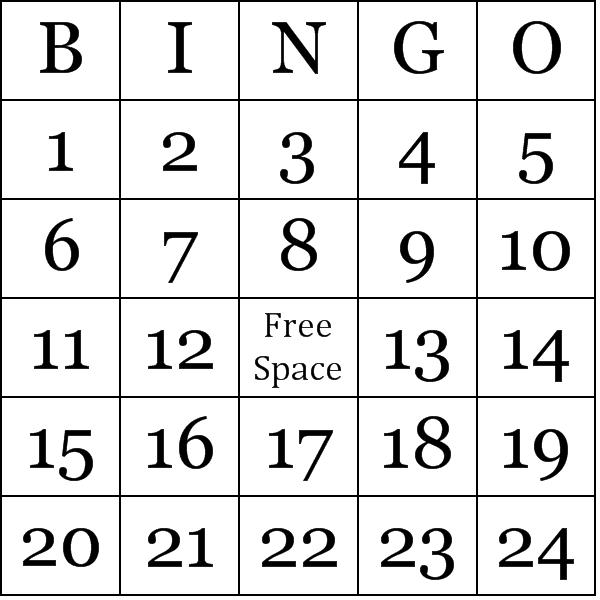 Free Printable Number Bingo Cards Bingo Cards Bingo Card