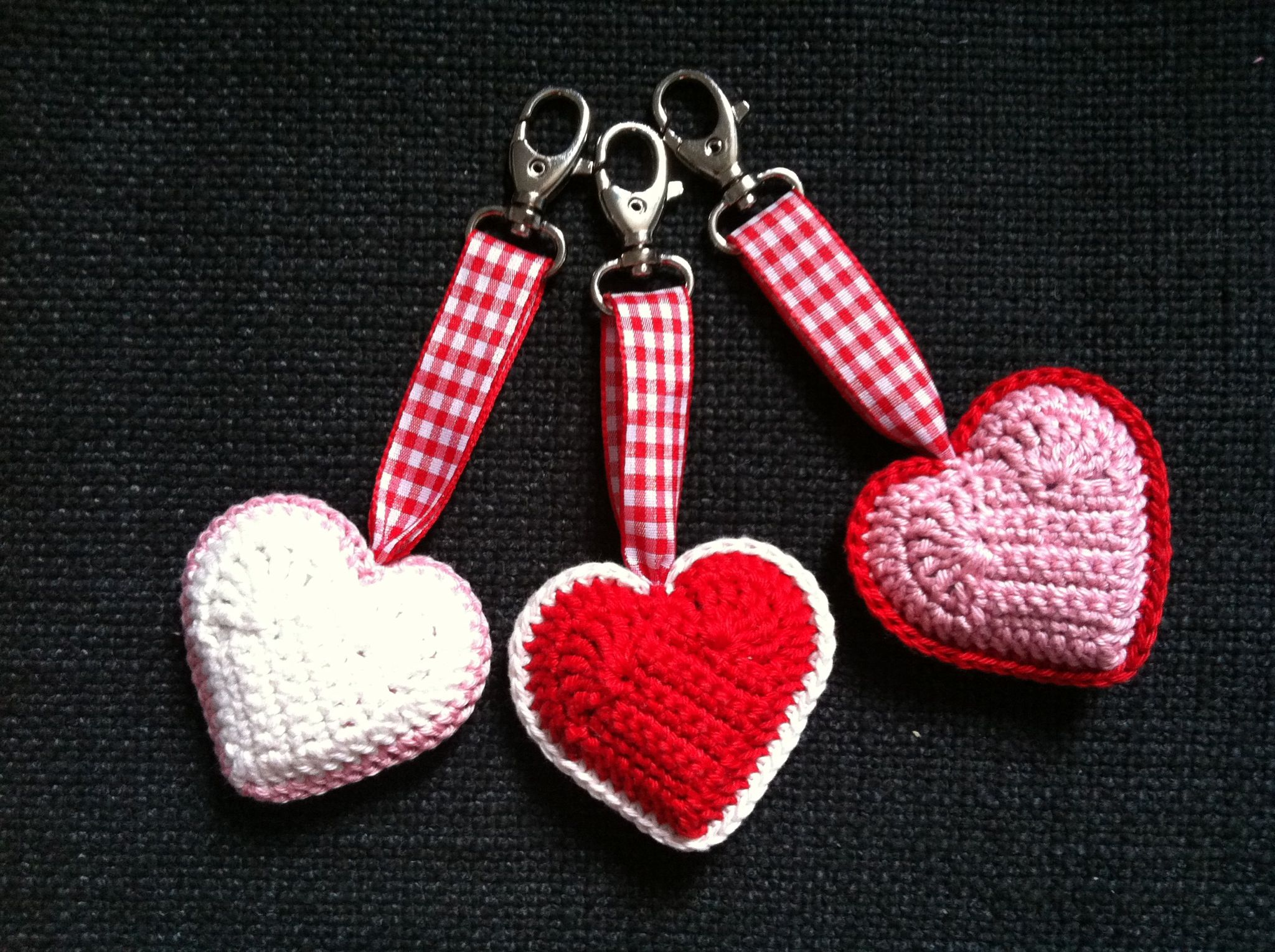 Haarspeld Poot Key Ring Crochet Heart Made By Me Crochet Heart