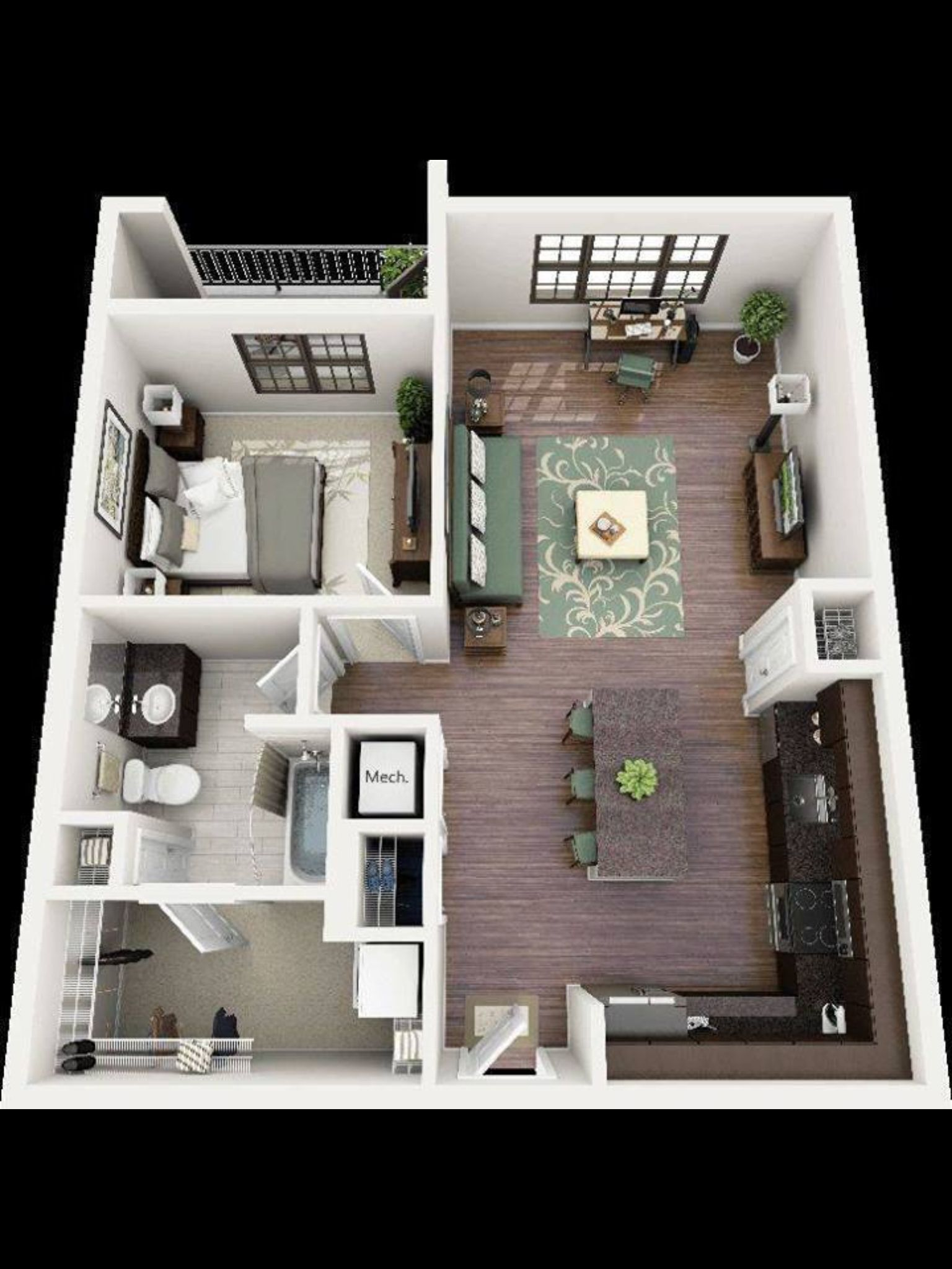 very nice and comfortable planning of the apartment