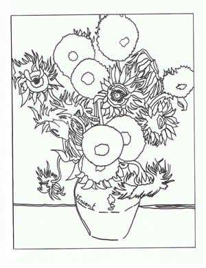 Art appreciation- print and colour using watercolour