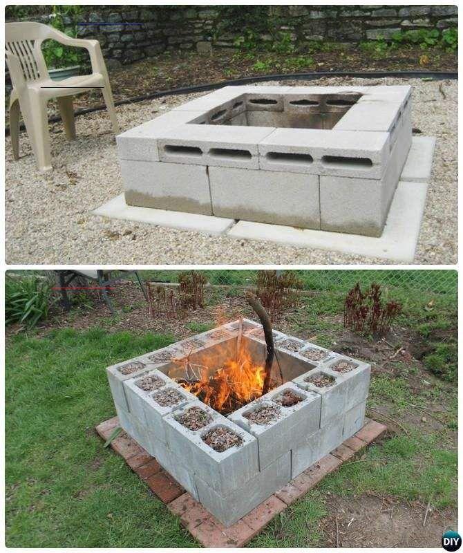 DIY Cinder Block Garden Projects Instructions - # ... on Diy Cinder Block Fireplace id=34124