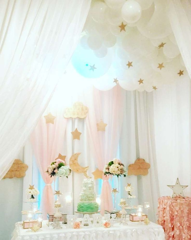 Sky Moon And Stars Baby Shower Party Ideas