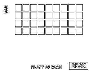 Use this Word document to create a seating chart. Move and