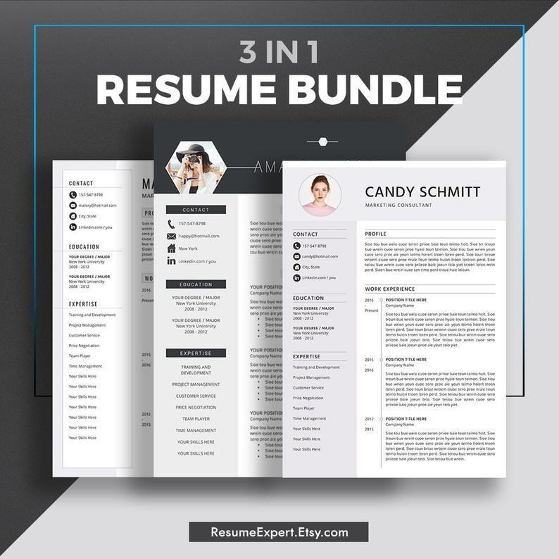 2020 Professional Resume Templates Cv Bundle Compatible With Etsy Resume Templates Resume Template Professional Downloadable Resume Template