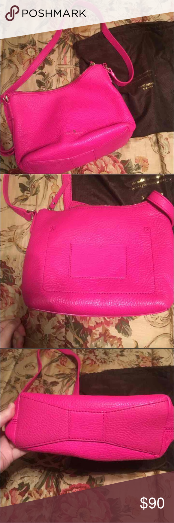Kate Spade pink crossbody only used a few times, comes with dust bag kate spade Bags Crossbody Bags