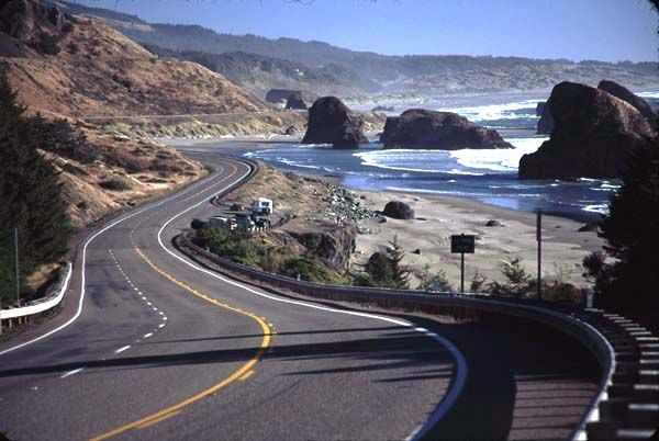 US route 101 from Portland to San Francisco is one of the most
