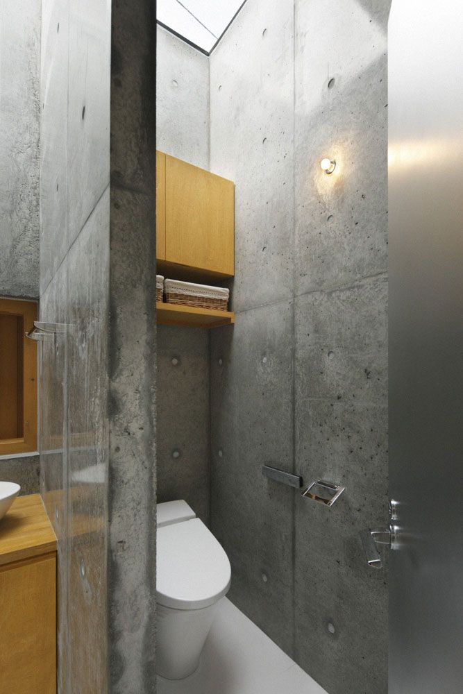 28 best concrete bathroom design ideas bathroom pinterest concrete bathroom bathroom and for Exposed concrete walls interior