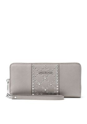 01c8e41e1ef8 Michael Michael Kors Money Pieces Travel Continental Wristlet - Pearl Grey  - One Size
