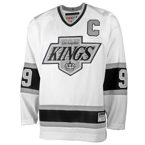 ... NHL Home Black Mens Los Angeles Kings Wayne Gretzky CCM White Heroes of  Hockey Alumni Jersey ... a7efec4eb